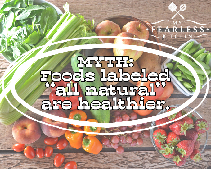 Breaking Down the Top 5 Food Myths in My Fearless Kitchen. It's hard to find good information about food. Myths and mis-information are everywhere. I'm breaking down the top 5 food myths for you right here.