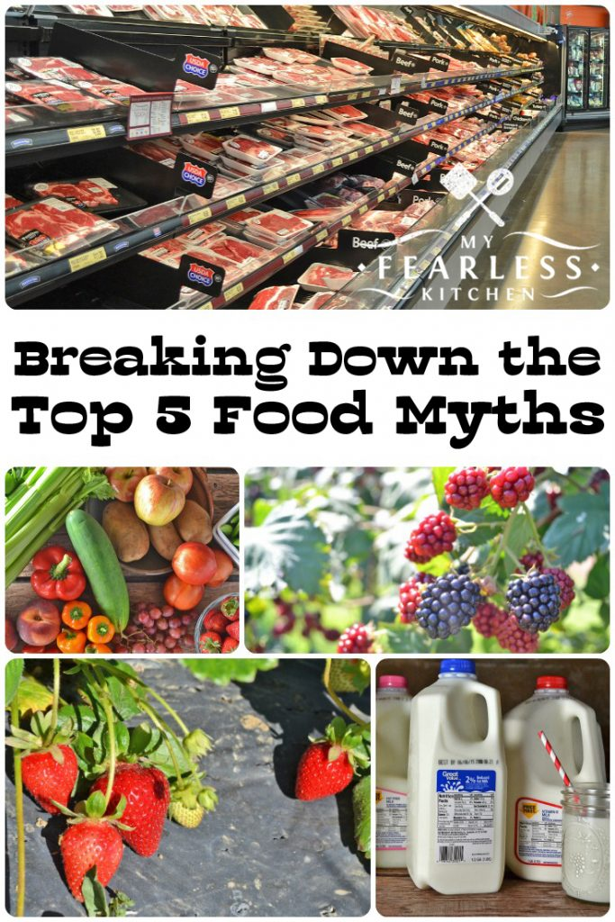 Breaking Down the Top 5 Food Myths in My Fearless Kitchen. It's hard to find good information about food. Myths and mis-information are everywhere. I'm breaking down the top 5 food myths for you right here. #kitchentip #grocerystoretip #foodfact