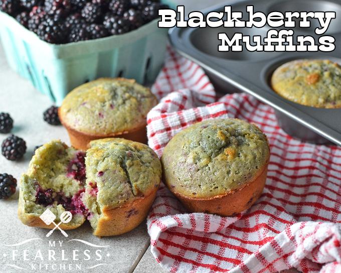 Blackberry Muffins - My Fearless Kitchen
