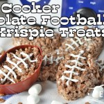 Slow Cooker Chocolate Football Rice Krispie Treats