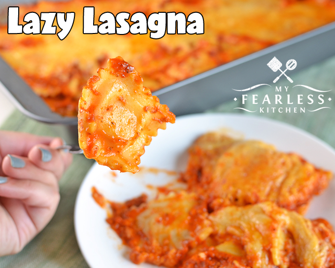 how to make lazy man lasagna