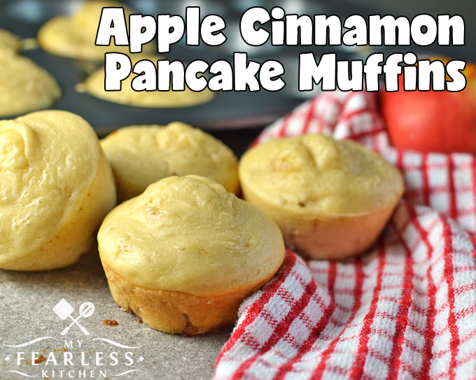 Apple Cinnamon Pancake Muffins from My Fearless Kitchen. Are you looking for a fast and easy breakfast that everyone will love? Whip up these Apple Cinnamon Pancake Muffins and enjoy your coffee while they bake!