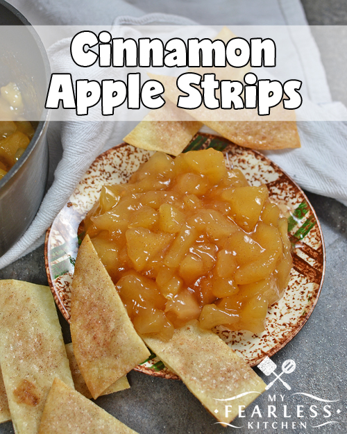 Cinnamon Apple Strips from My Fearless Kitchen. Make cinnamon apples even better with this easy recipe for DIY Cinnamon Apple Strips. Crisp, sweet, and oh-so-yummy, they are perfect for fall or anytime!