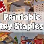 Printable Pantry Staples List