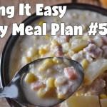 Easy Weekly Meal Plan #52