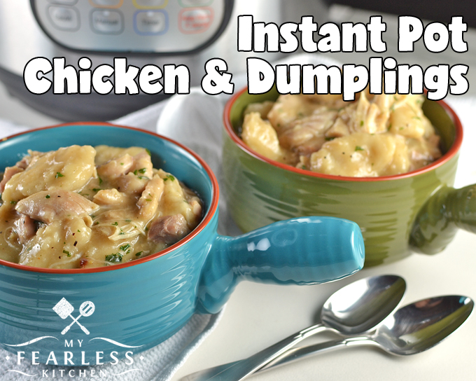 Instant pot chicken and dumplings my fearless kitchen instant pot chicken dumplings from my fearless kitchen are you looking for an easy forumfinder Images