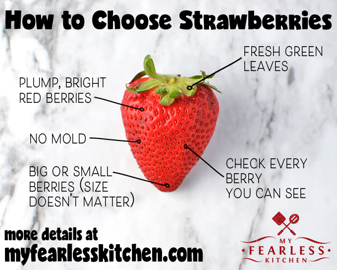 printable tips for how to choose strawberries