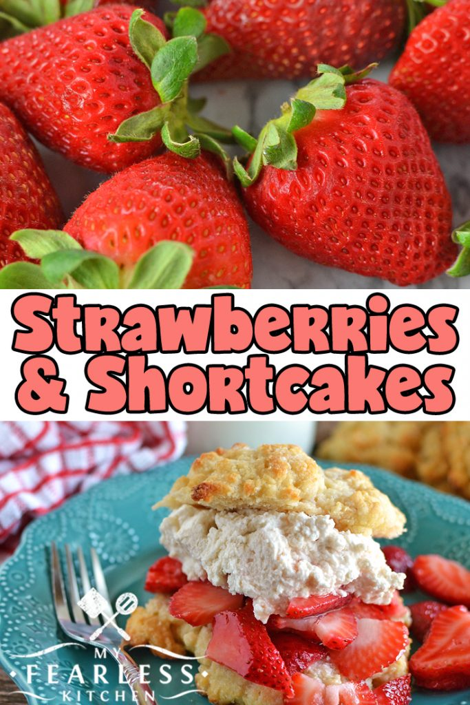 My Fearless Kitchen Episode 2 - Strawberries and Shortcakes. Strawberries are a delicious treat! There are a few tips to know before you buy them, and a few more tricks to know once you get them home. We'll talk all things strawberries, look at different ways to prepare them, and make a simple Homemade Strawberry Shortcake! #strawberries #kitchentips