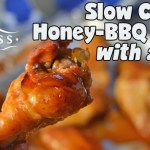Slow Cooker Honey-BBQ Wings with a Kick!