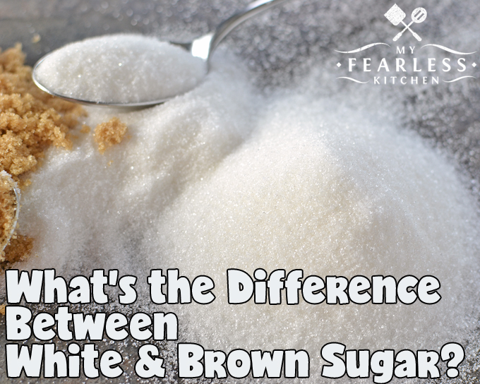 What's the Difference Between White Sugar & Brown Sugar? from My Fearless Kitchen. You probably have them both in your pantry, but do you know why? Let's find out the difference between white sugar and brown sugar, and why it might matter.