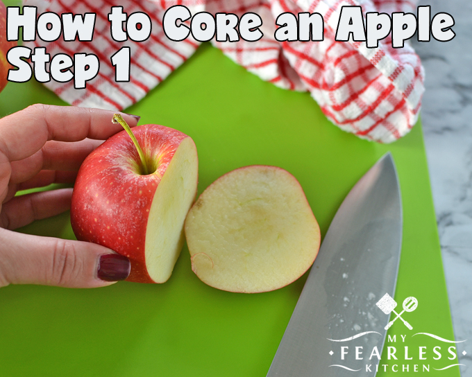 How to Quickly Core an Apple from My Fearless Kitchen. Does it take too long to core and peel an apple for a snack or to cook with? Use this simple tip to core and peel apples in a snap! It's the perfect tip for fall baking or snack time.