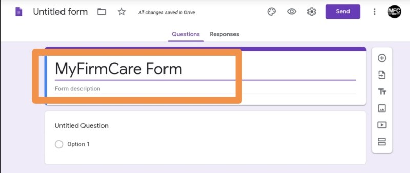 Name Your Google Form