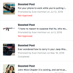 facebook hates gun pages screenshot