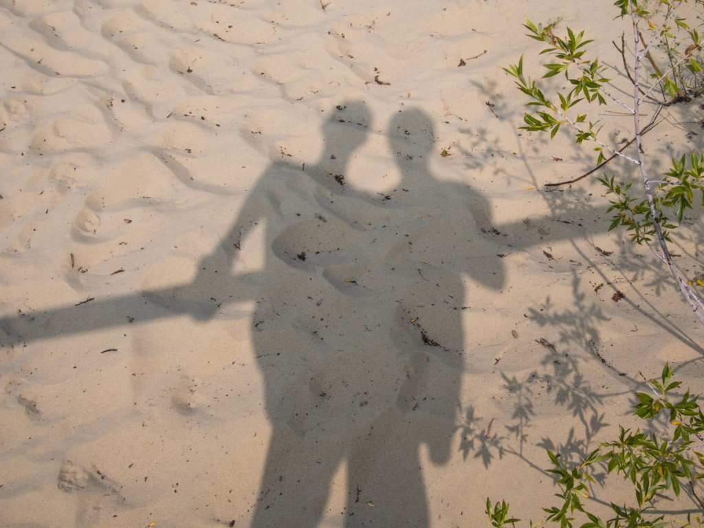 Self-portrait on the Curonian Spit.