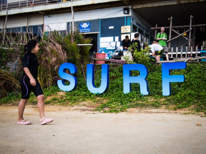 Surfer girl, Riyue Bay Surf Club.