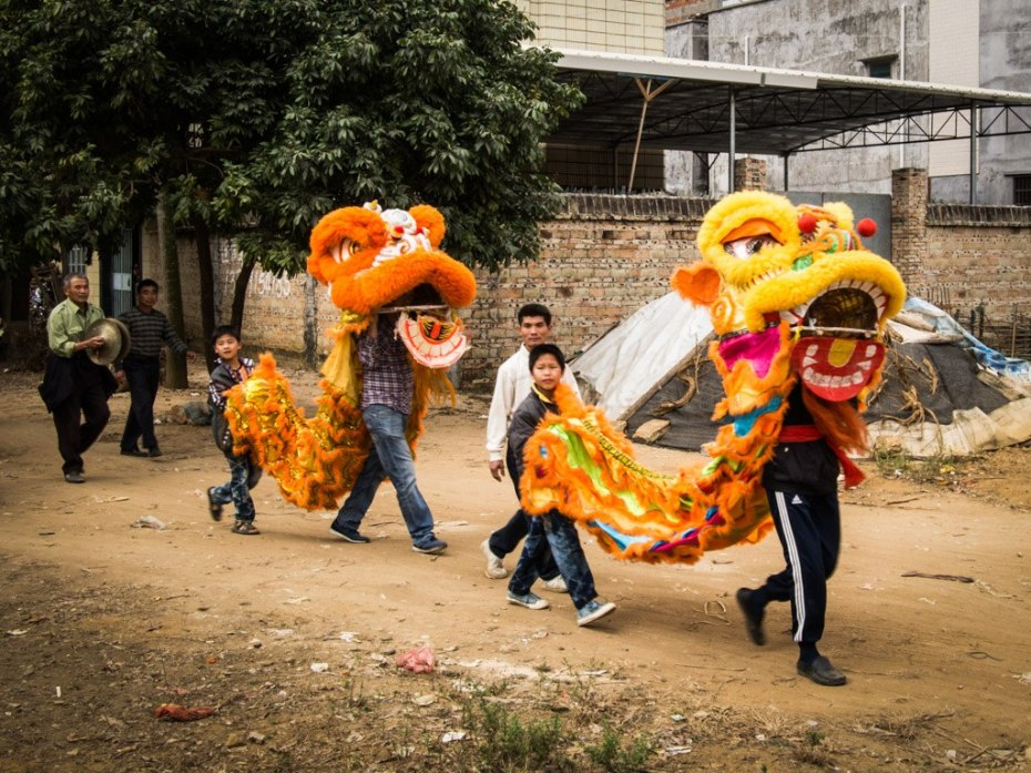 Dragons on parade, Hengshan, Guangdong.