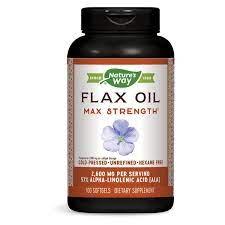 Nature's Way, Ленено масло (57% АЛК), 1300 мг х 100 капсули