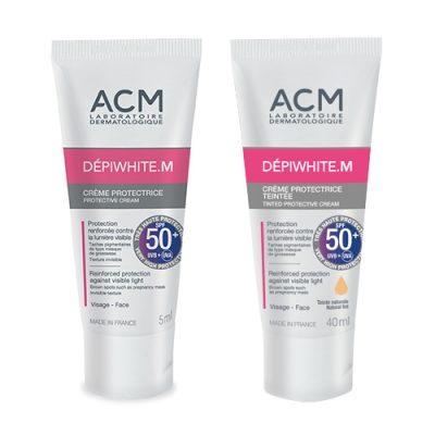 Депиуайт.М, Изсветляващ слънцезащитен крем SPF50 +(с цвят или без) - 40 мл.
