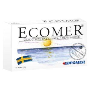 Ecomer/ ЕКОМЕР, Масло от черен дроб на акула х 60 капс