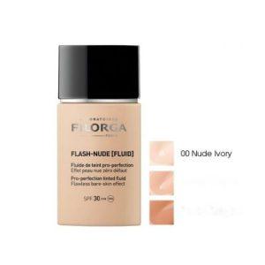 FILORGA Flash-Nude Fluid, Тониран флуид перфектьор SPF30 - цвят 00 Nude Ivory, 30 мл.