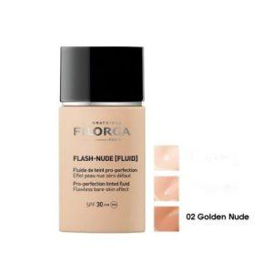 FILORGA Flash-Nude Fluid, Тониран флуид перфектьор SPF30 - цвят 02 Nude Gold, 30 мл.