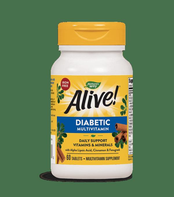 Алайв, Мултивитамини за Диабетици х 60 таблетки