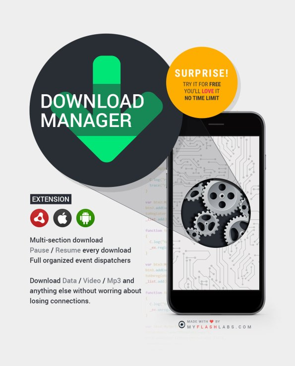 Download Manager ANE (Android+iOS)
