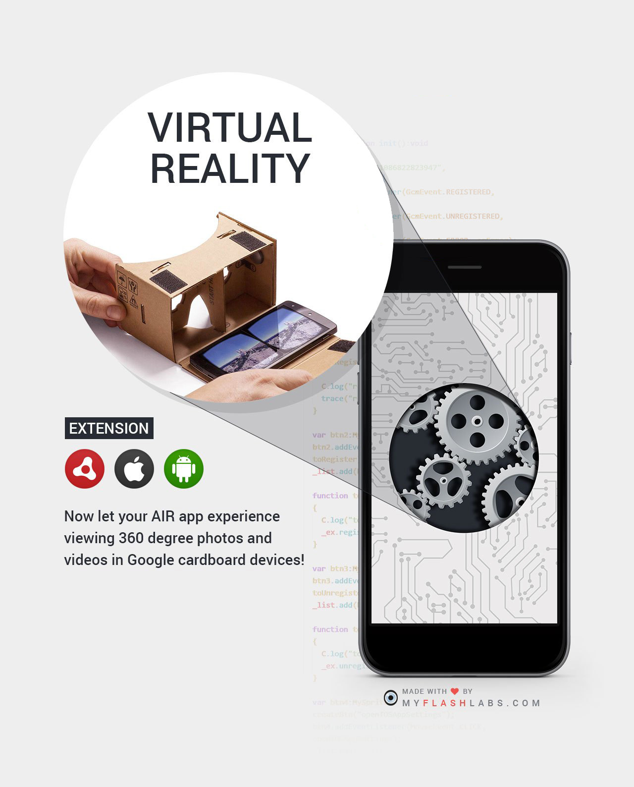 Virtual Reality Air Native Extension (Android+iOS) - MyFlashLabs