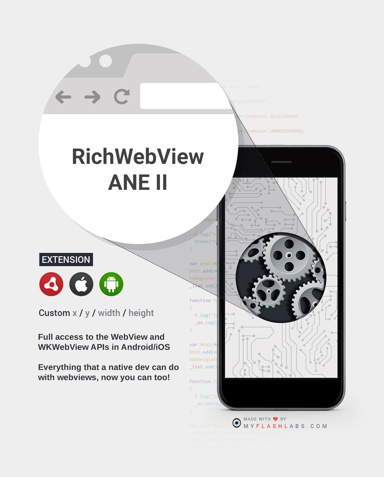 RichWebview ANE II (Android+iOS) - MyFlashLabs