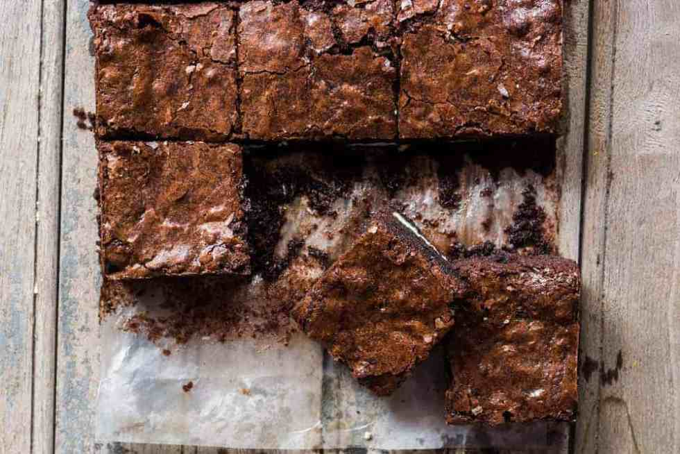 Oreo Stuffed Double Chocolate Brownies