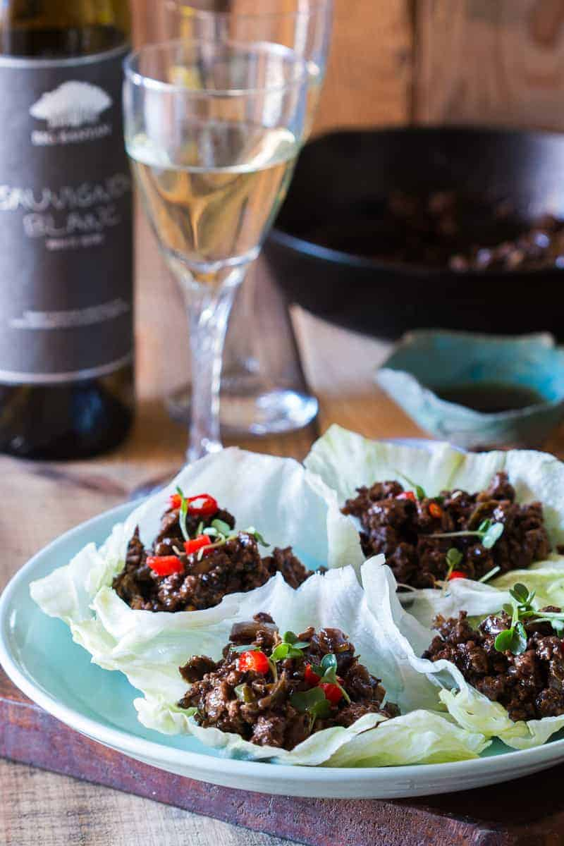 and insanely delicious stir fried black bean chicken lettuce cups ...