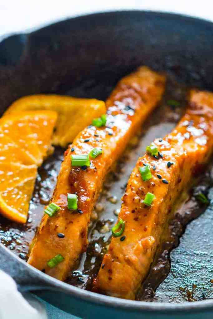 Pan Seared Orange Mustard Salmon