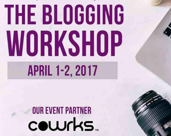 Announcing The Blogging Workshop: April 1-2, 2017