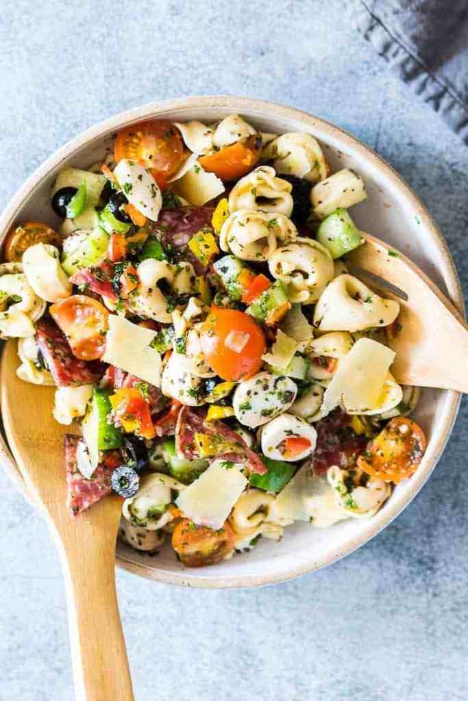 Italian Antipasto Tortellini Pasta Salad
