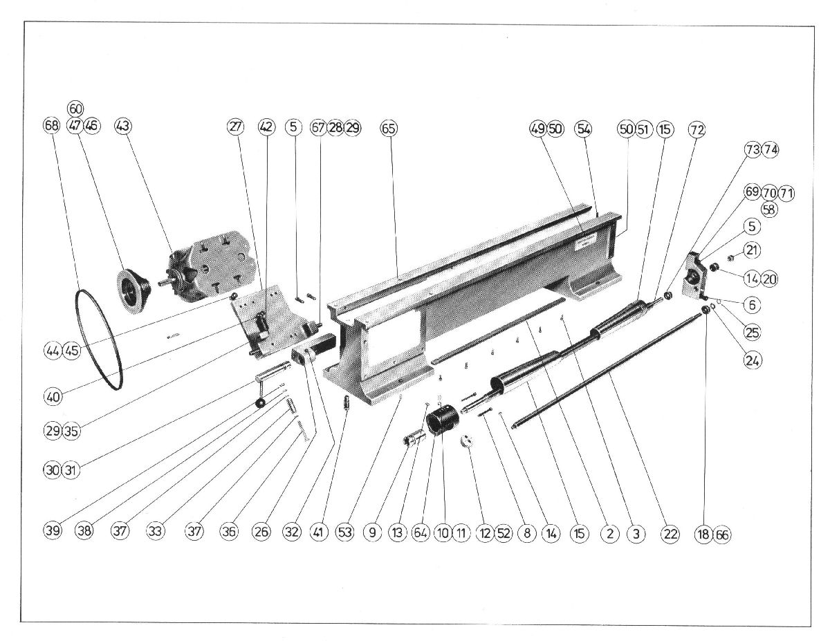 Myford Ltd Exploded Parts Diagram