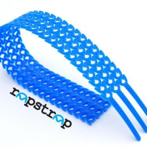 RAPSTRAP Reusable Cable Ties 3 Pieces (300MM X 10MM) - BLUE