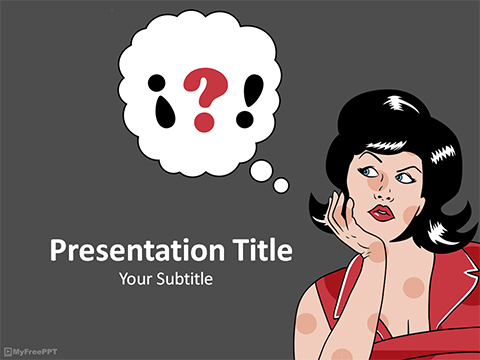 Cartoon pop art powerpoint template cartoonjdi free pop art powerpoint templates myfreeppt com toneelgroepblik Images