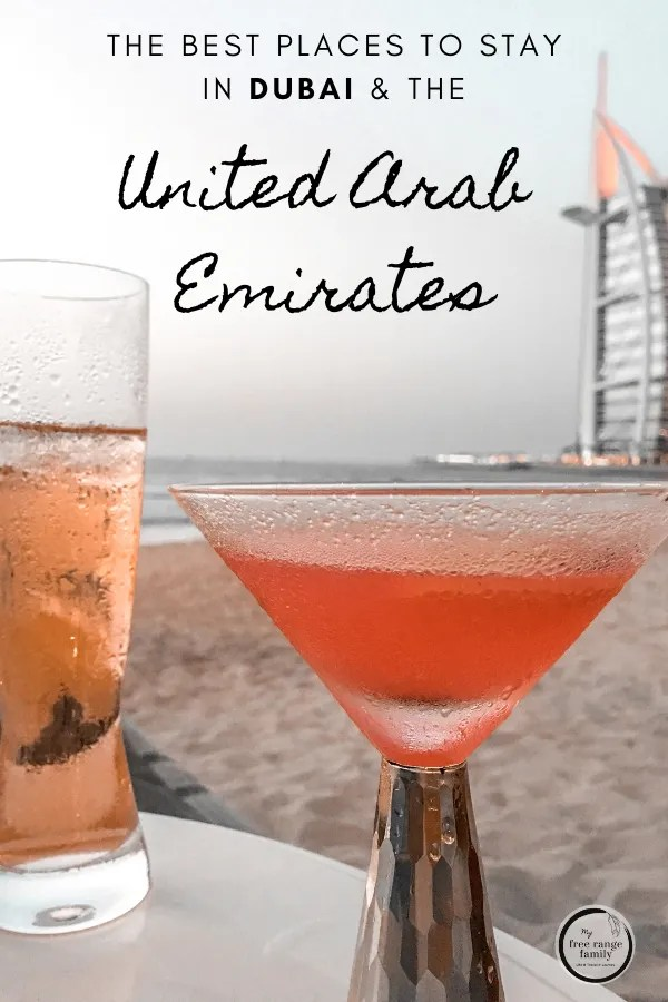The best places to stay in Dubai and the United Arab Emirates.  Beach views of the Burj al Arab.