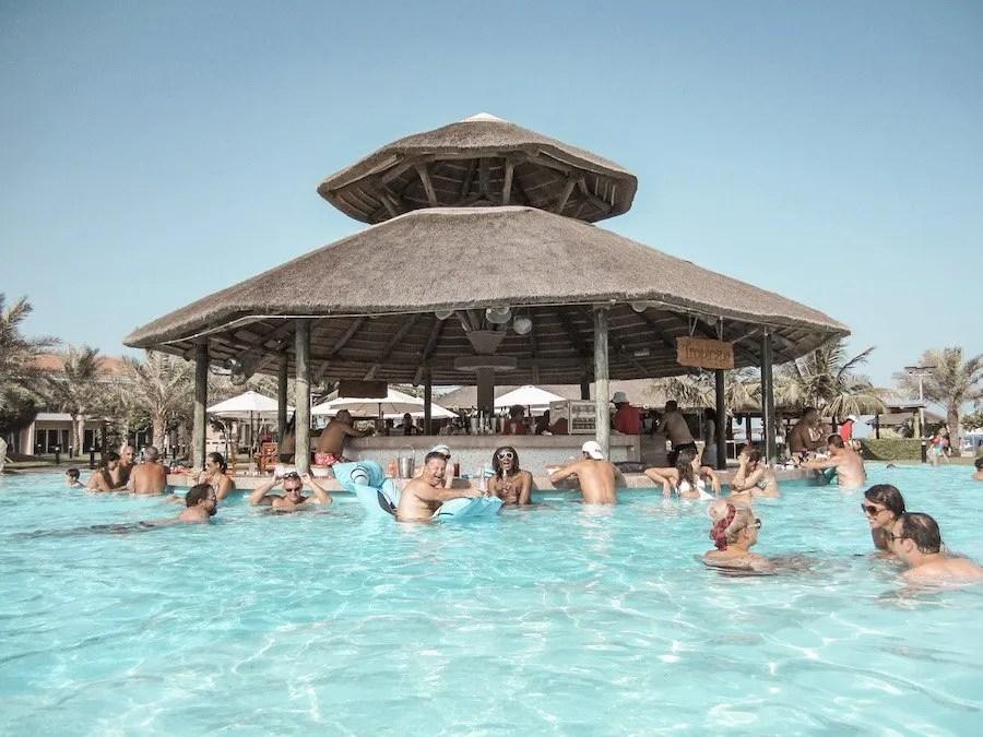 Pool bar, Rotana Al Aqah, United Arab Emirates