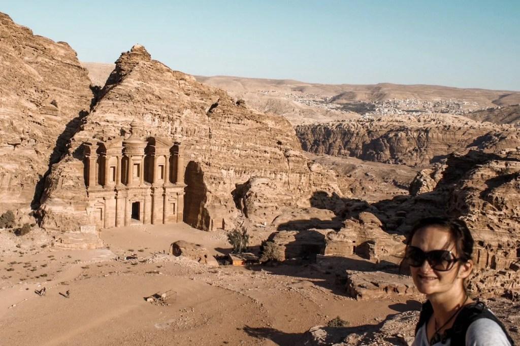 The monastery in Petra - Jordan itinerary