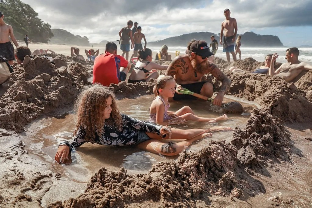Hot Water Beach during the day - Coromandel Attractions
