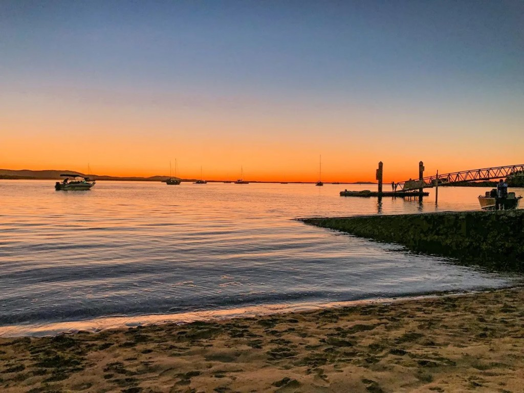 Sunset at 1770 - this is one of the most popular activities in Agnes Water.