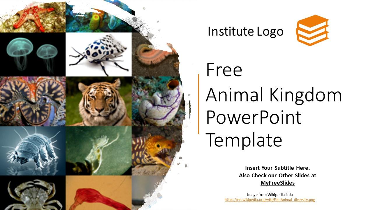 Free Animal Kingdom Powerpoint Template Myfreeslides