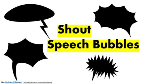 Shout Bubble set For Free