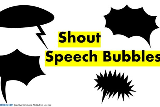 Shout Bubble set For Free