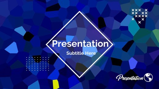 Crystal Presentation Background Template