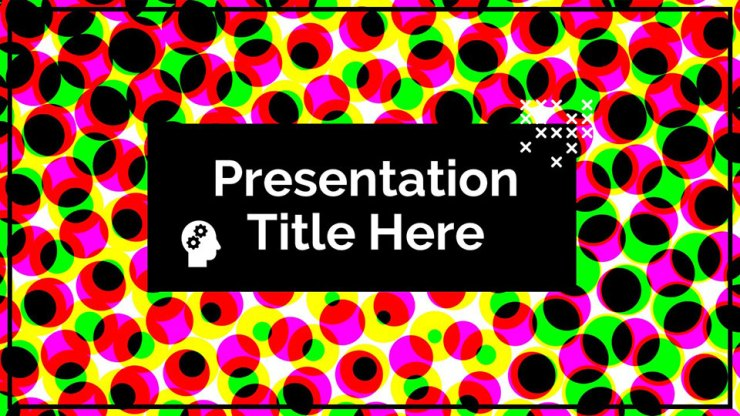 Halftone Google Slide Template
