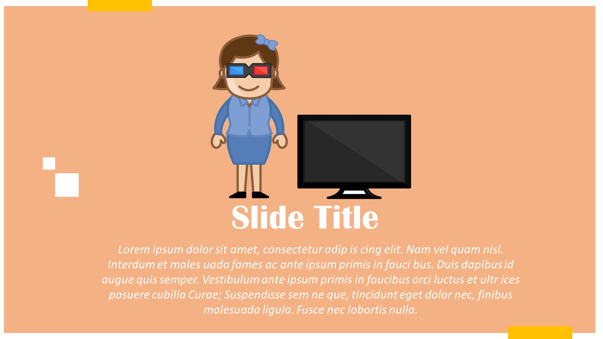 3d Glasses And Tv Cartoon