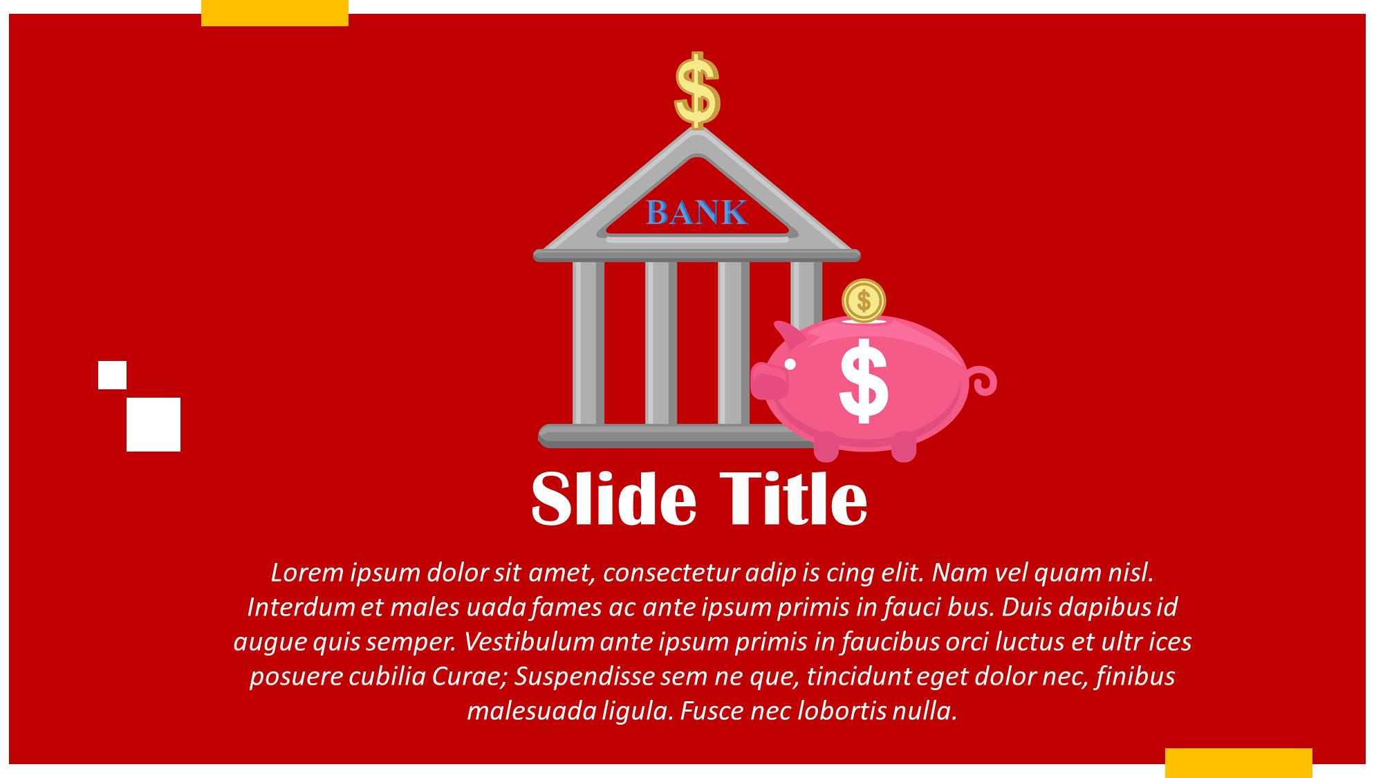 Banking And Savings Presentation Slide