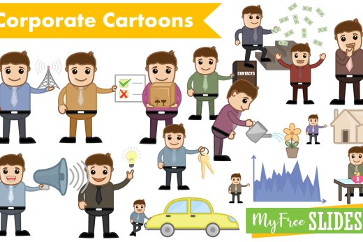 Corporate Cartoons Pack For Google Slides